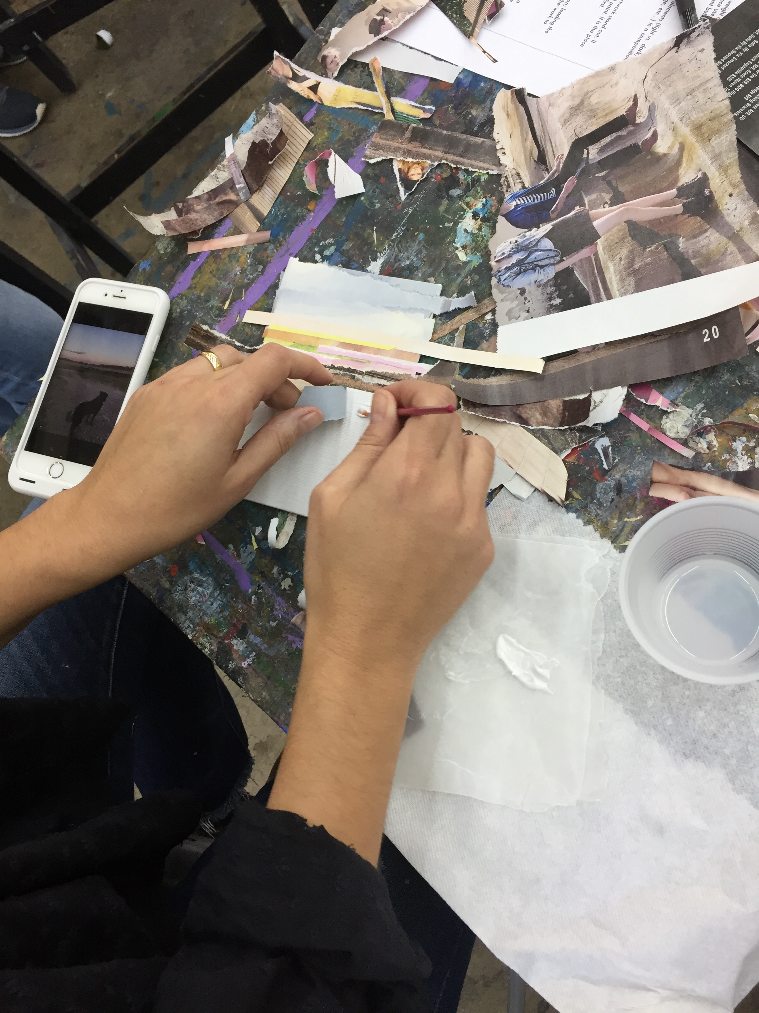 painting with glue