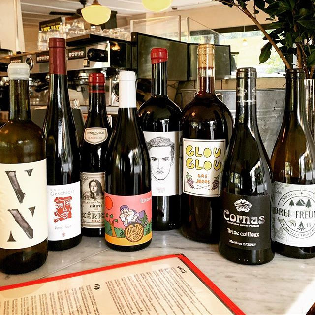 The sky is low and gray but the cellar is full of bright new friends! From Alsace to Cali, en passant par Penedes and Burgenland, Rioja and Cornas, and of course a pit stop in Arbois with  @octavin.alice.bouvot princess of Jura! ❤️🍷🥂🍇🙌🏼✨ #naturalwine  #frenchbistro  #fortgreene  #brooklyn