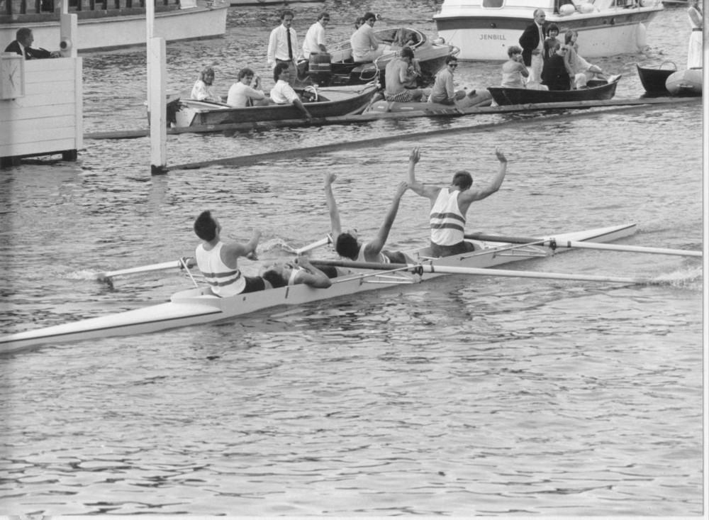 RUBC winning at Henley, 1986.
