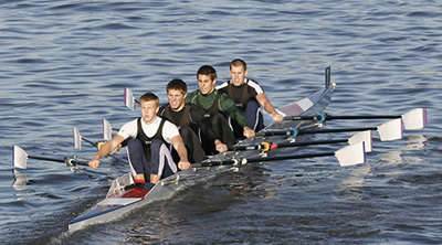 RUBC's men's quad finish 4th at the 4's Head, London, November 2006.