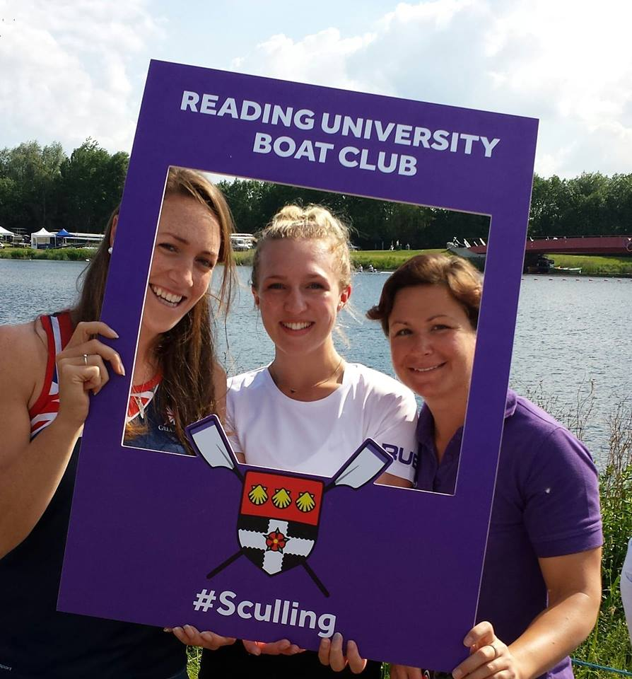 GB's Karen Bennett joins Kate (RUBC President) and Charlotte (RUBC coach) for a pic!