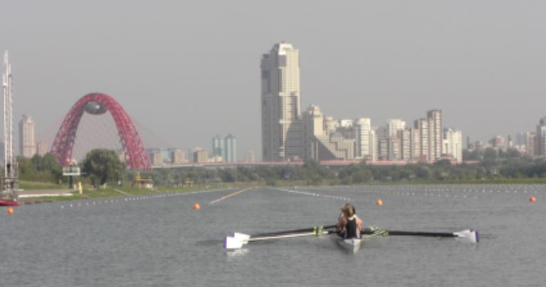 The rowing lake in Moscow