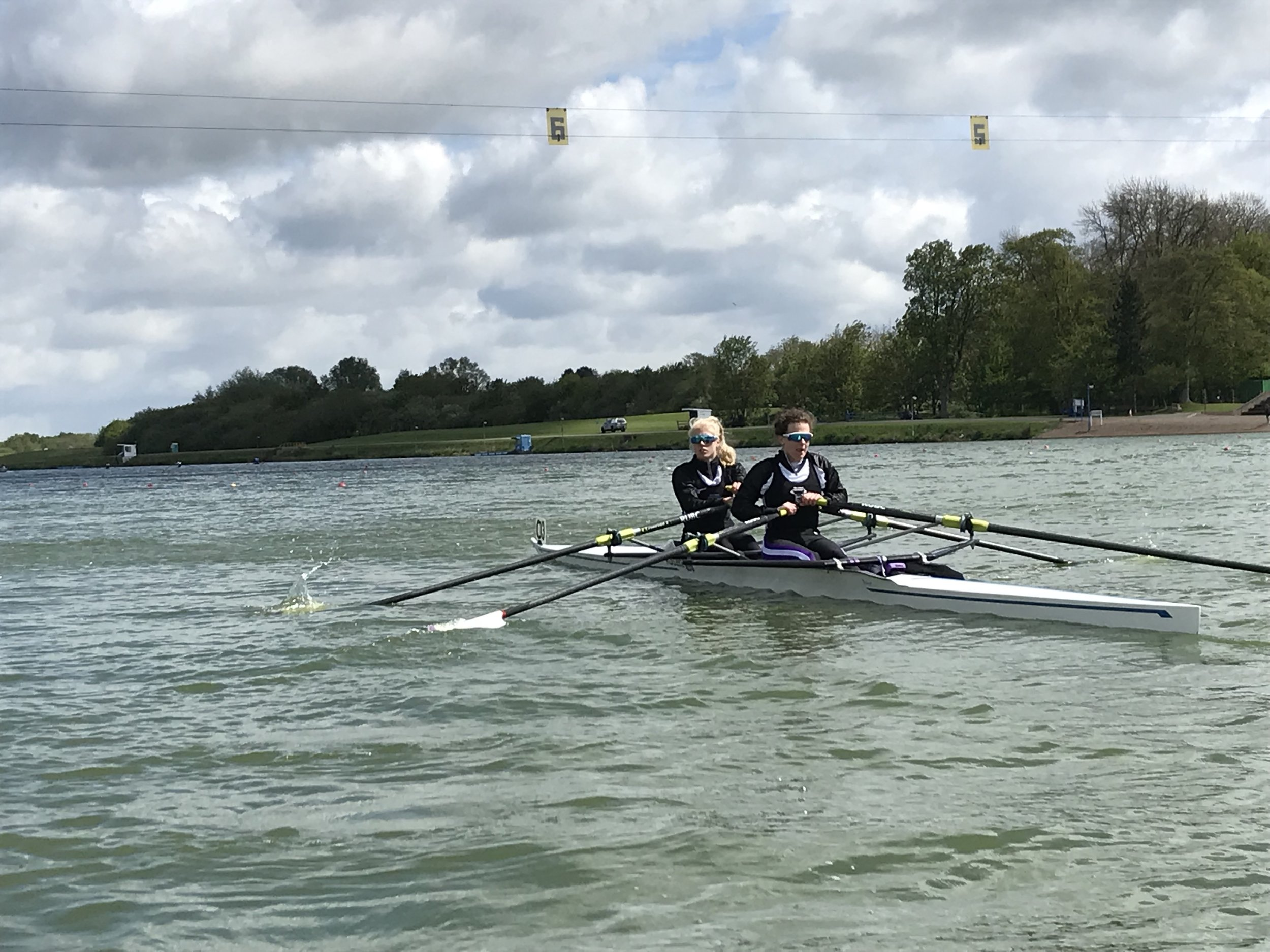 Franky and Vic in the Lightweight 2x boating for their rep.