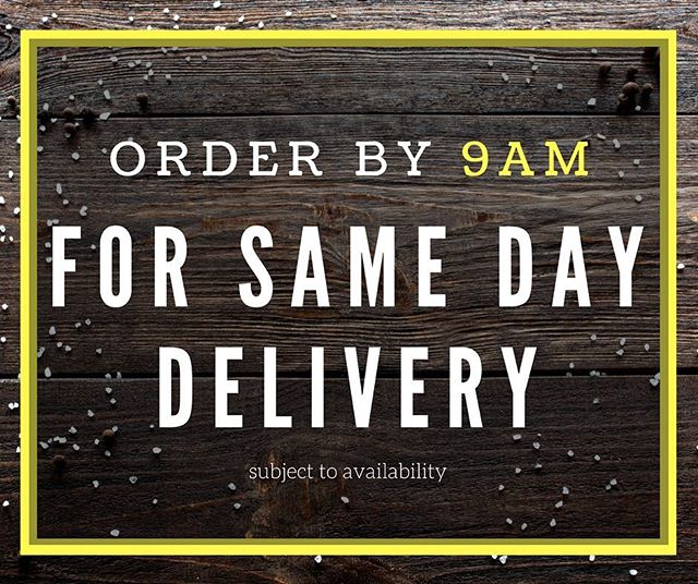 Forgotten something? Simply call us before 9am in the morning for delivery the very same day! (Subject to availability). ••• #parkersfoodservice #steaks #samedaydelivery #foodwholesaler #foodwholesalers #bbq #pubs #catering #chef #cheflife