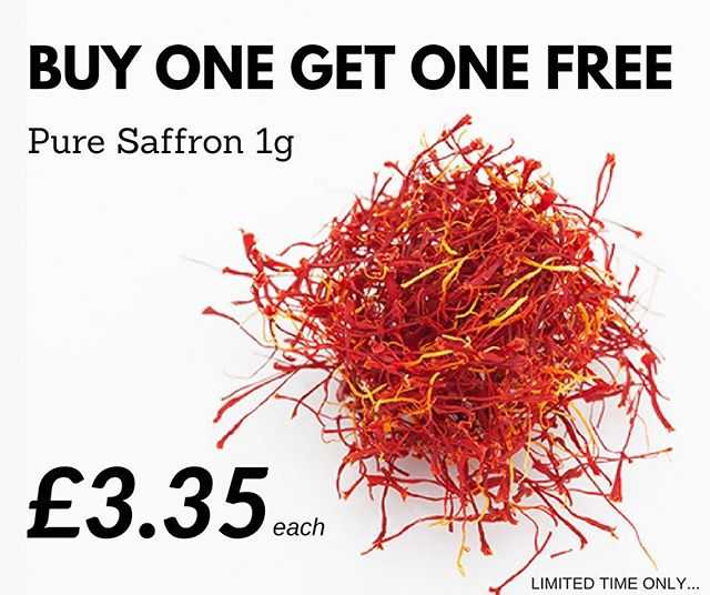 ** Buy One Get One Free ** Purchase 1g of Saffron and receive another unit completely free... Promotion ends 31/08/2018 ••• Call us on: 01243 542195 ••• #Saffron #bogof #buyonegetonefree #offer #spice #parkersfoodservice #parkers #catering #wholesale #wholesalers #food #chef #chefslife