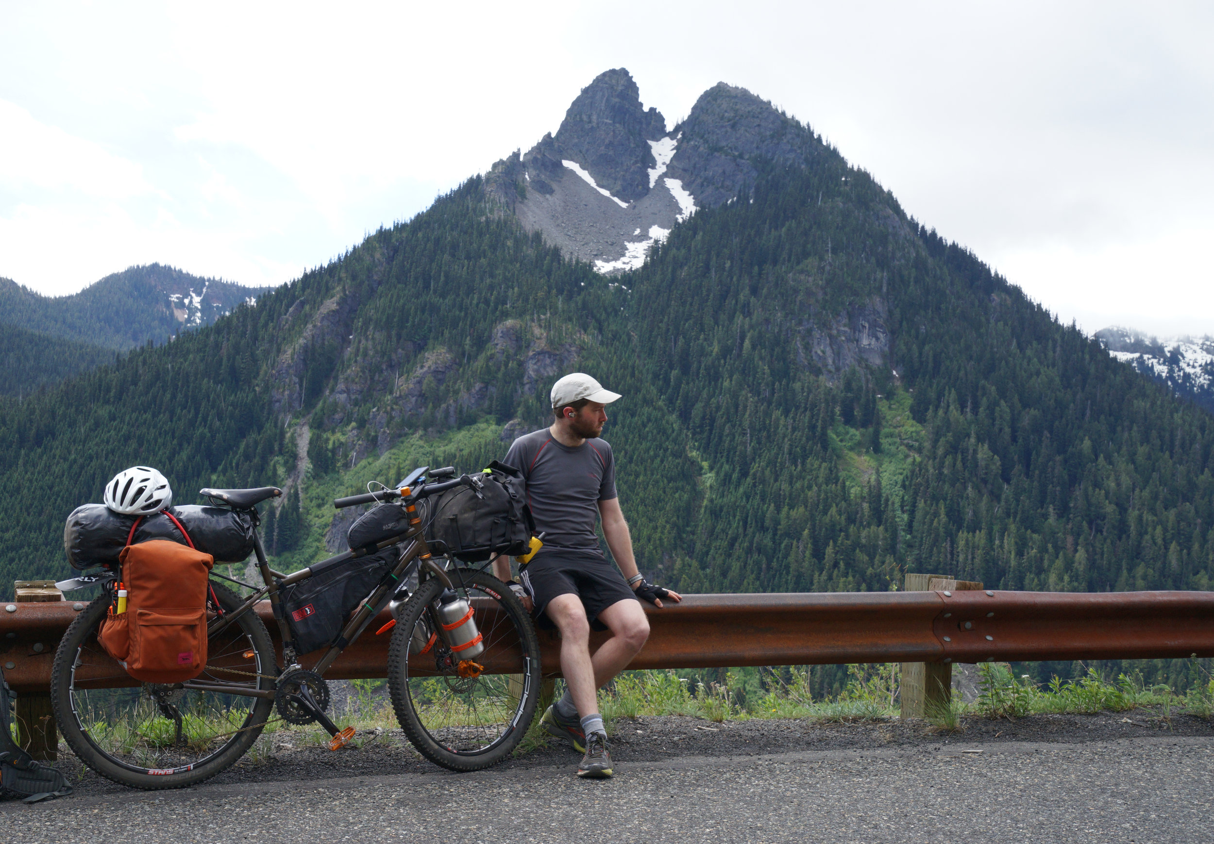 Surly Ogre (that's the bicycle, not me) on the Mather Memorial Parkway, WA, USA.