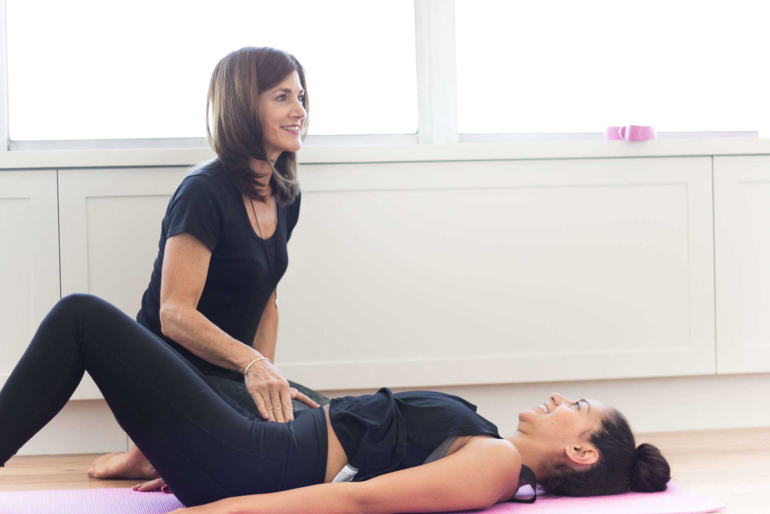 postnatal yoga practice