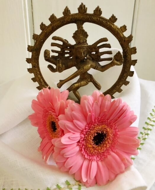 Shiva surrounded by softness signifies the union between feminine and masculine.
