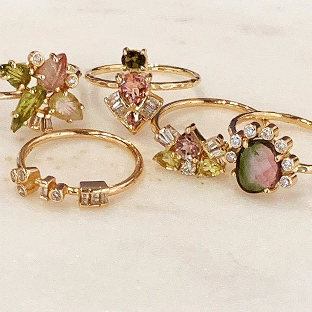 We're thrilled to introduce our latest artisan jeweler to join R&D... Eva Noga.  Her passion for flora and fauna are expressed in handmade jewelry that is truly beautiful! Our collection features works in combinations of tourmaline, diamond and gold. . . . #evanoga #evanogajewelry @evanogajewelry #tourmaline #diamonds #gold #finejewelry #artisanjewelry #showmeyourrings #rings #bohemian