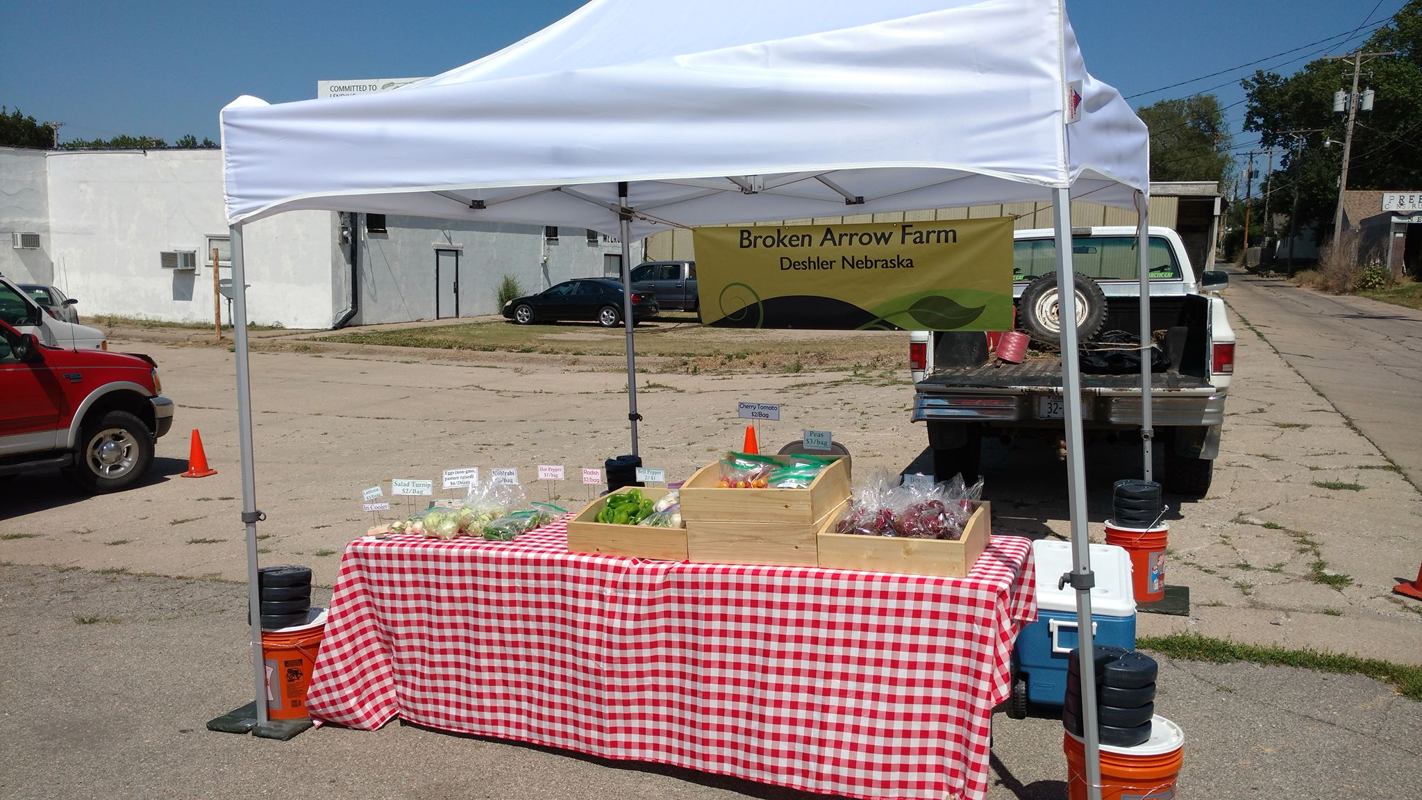 Look for our white tent at the southeast corner of the market!