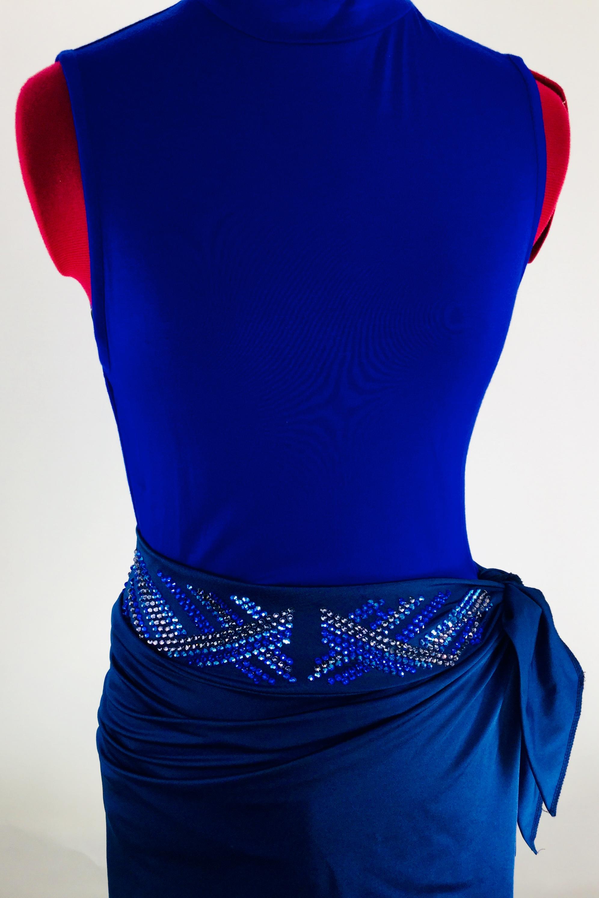 Sparkle Ridge * Rhinestonewear * Beautiful in Blue * Skirt Wrap