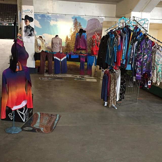 Stop by the FASH horse show to get a sneak peek at the newest @sparkleridge apparel!