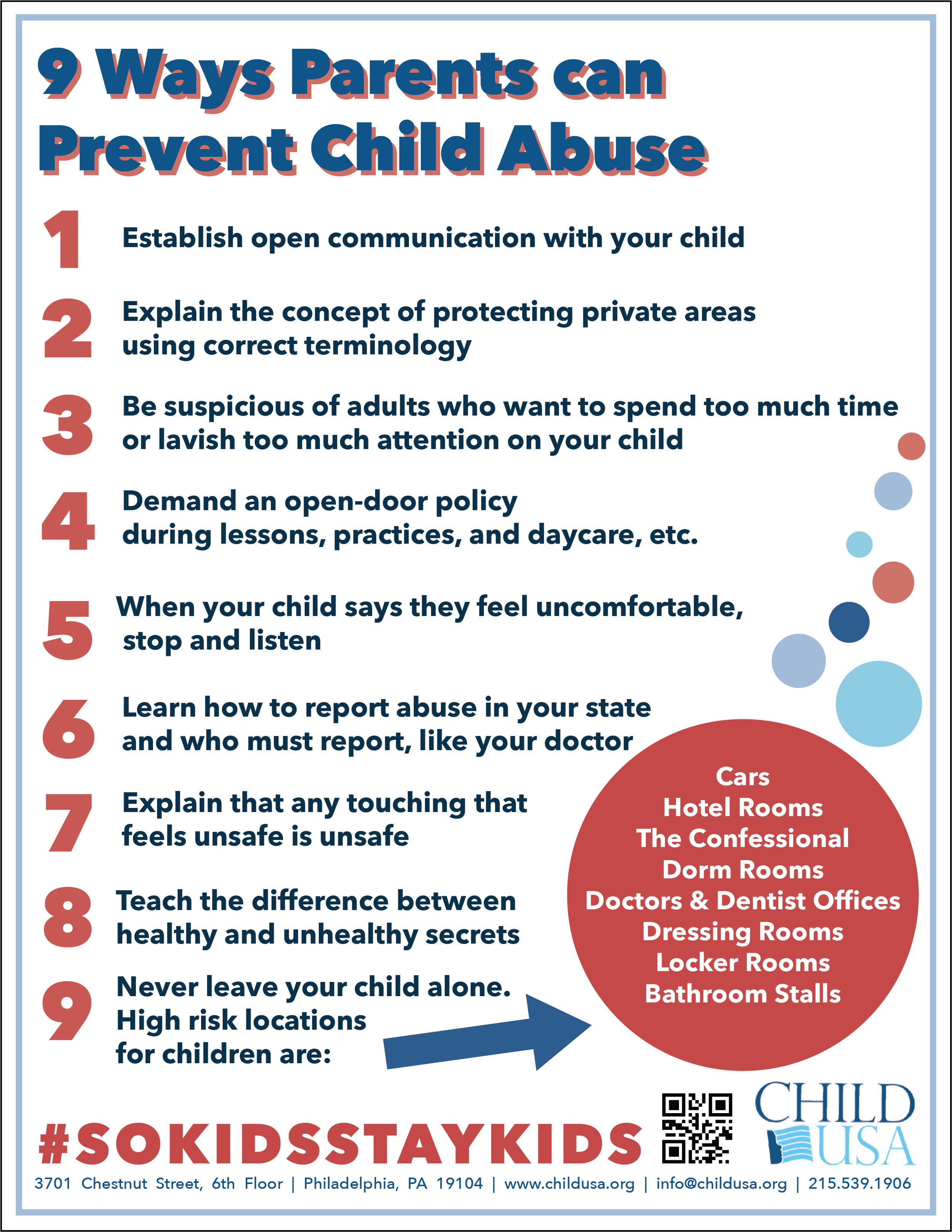 Nine Ways Parents Can Prevent Child Abuse