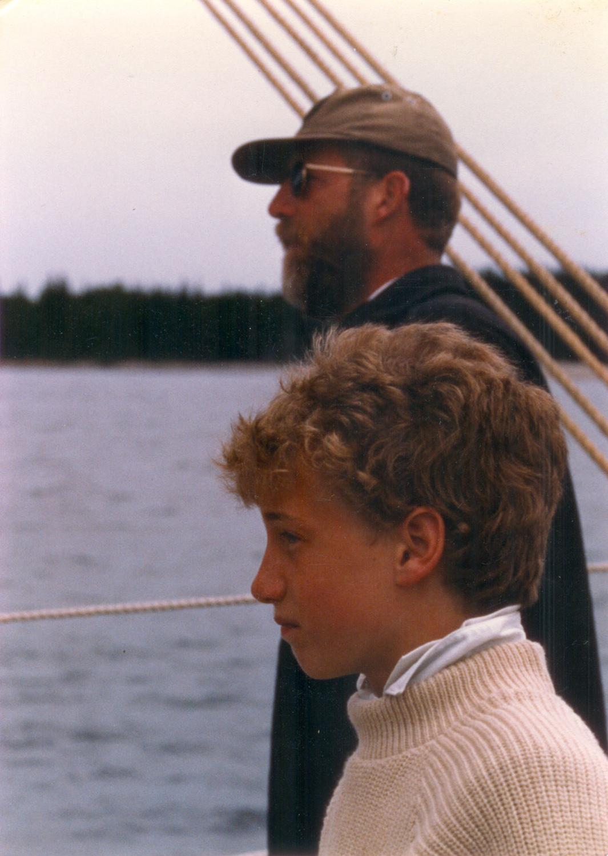 Captain Ken Barnes with son and successor Noah