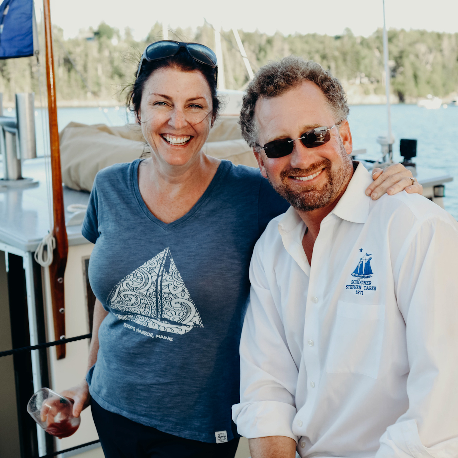 Captain Noah may be the expert when it comes to sailing the  Taber , but his wife Jane oversees and hand selects all wines we serve aboard. Photo: Julie Roesser