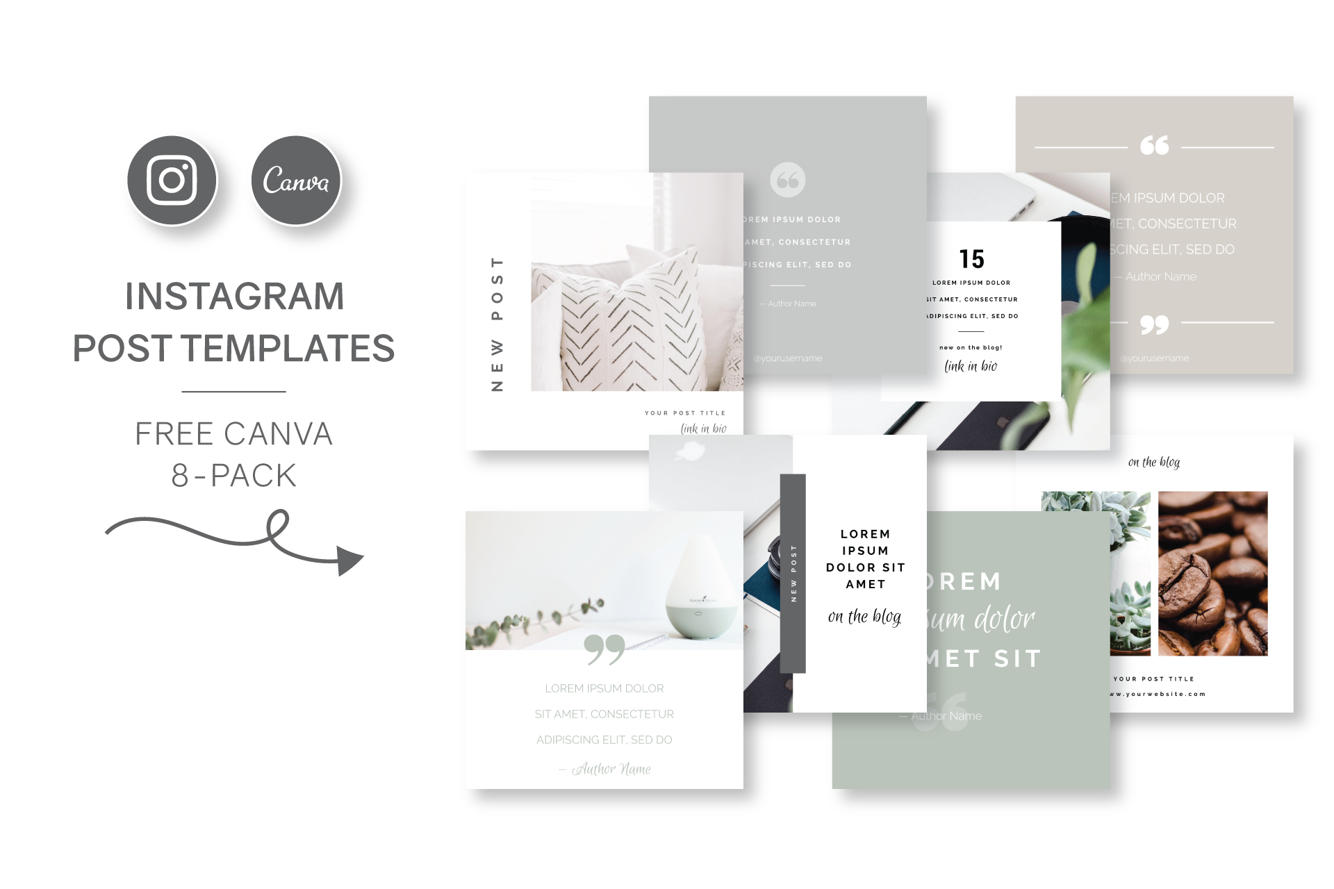 Try out my FREE Instagram Post Templates for Canva