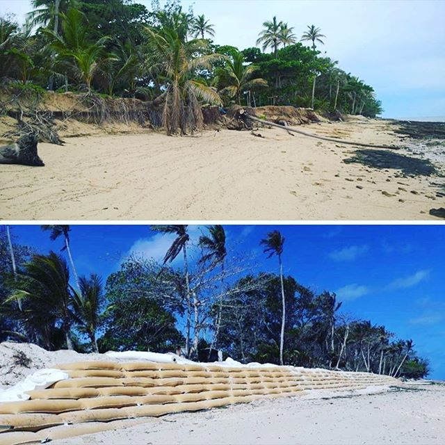 Thinking of our friends on Poruma Island and everyone in the Torres Strait as high tides are forecast today. Rycon were given the opportunity to be part of a project to install geotextile sand containers under the direction of Torres Strait Island Regional Council with supplies from Global Synthetics. Pic via @ABC Far North https://www.facebook.com/384391795410/posts/10161120868785411/ #hightides #erosion #sandbags #todaysweather
