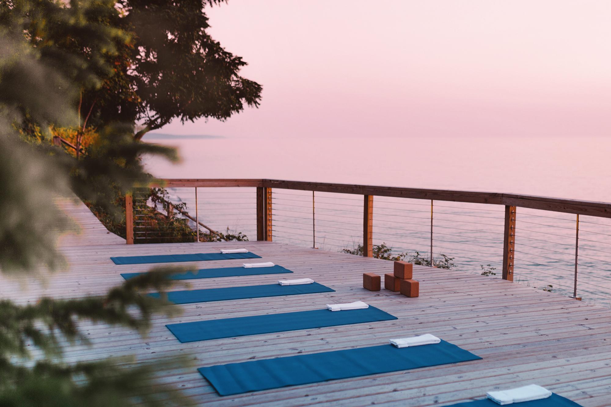 Yoga in Saugatuck Michigan, On Lake Michigan