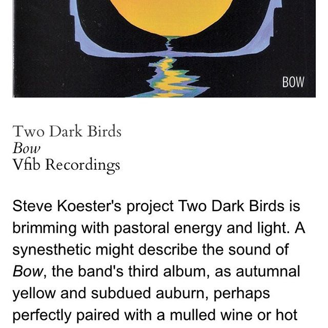 """Brimming with pastoral energy and light."" Many thanks to @chronogram & @mikedcampbell for the review.  #newmusic #musicreview #folkmusic #artrock #avantfolk #mulledwine #synesthesia"