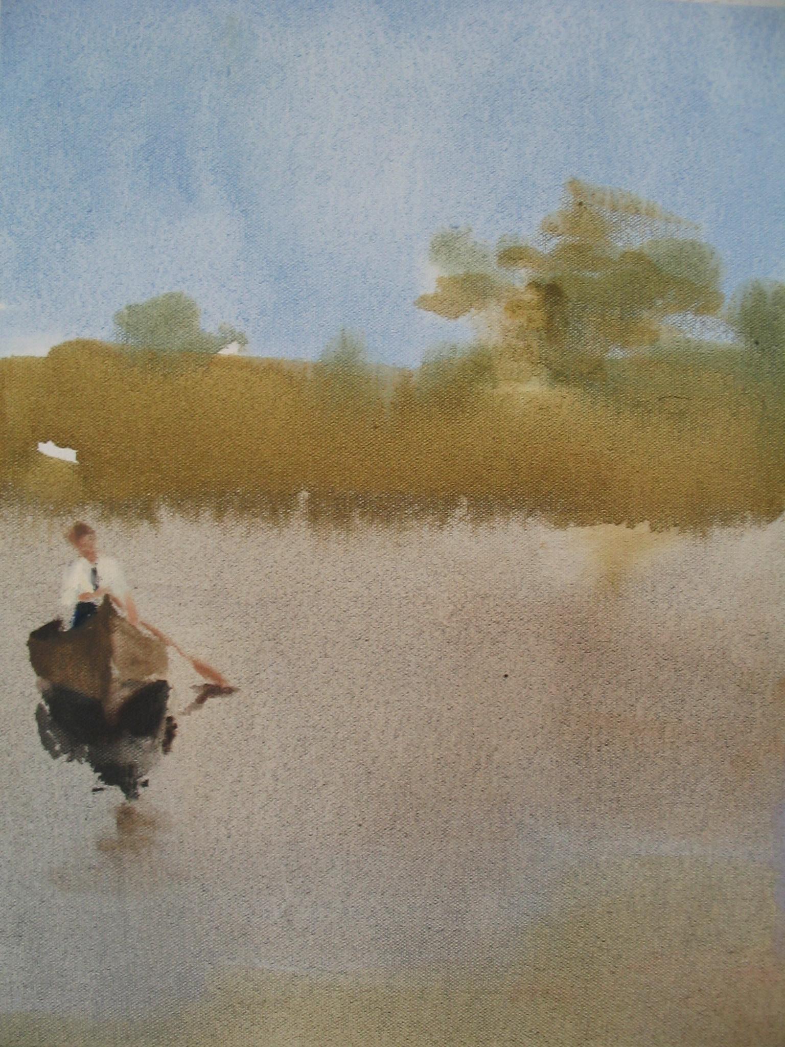Hush  (canoe)  14 x 11 in.