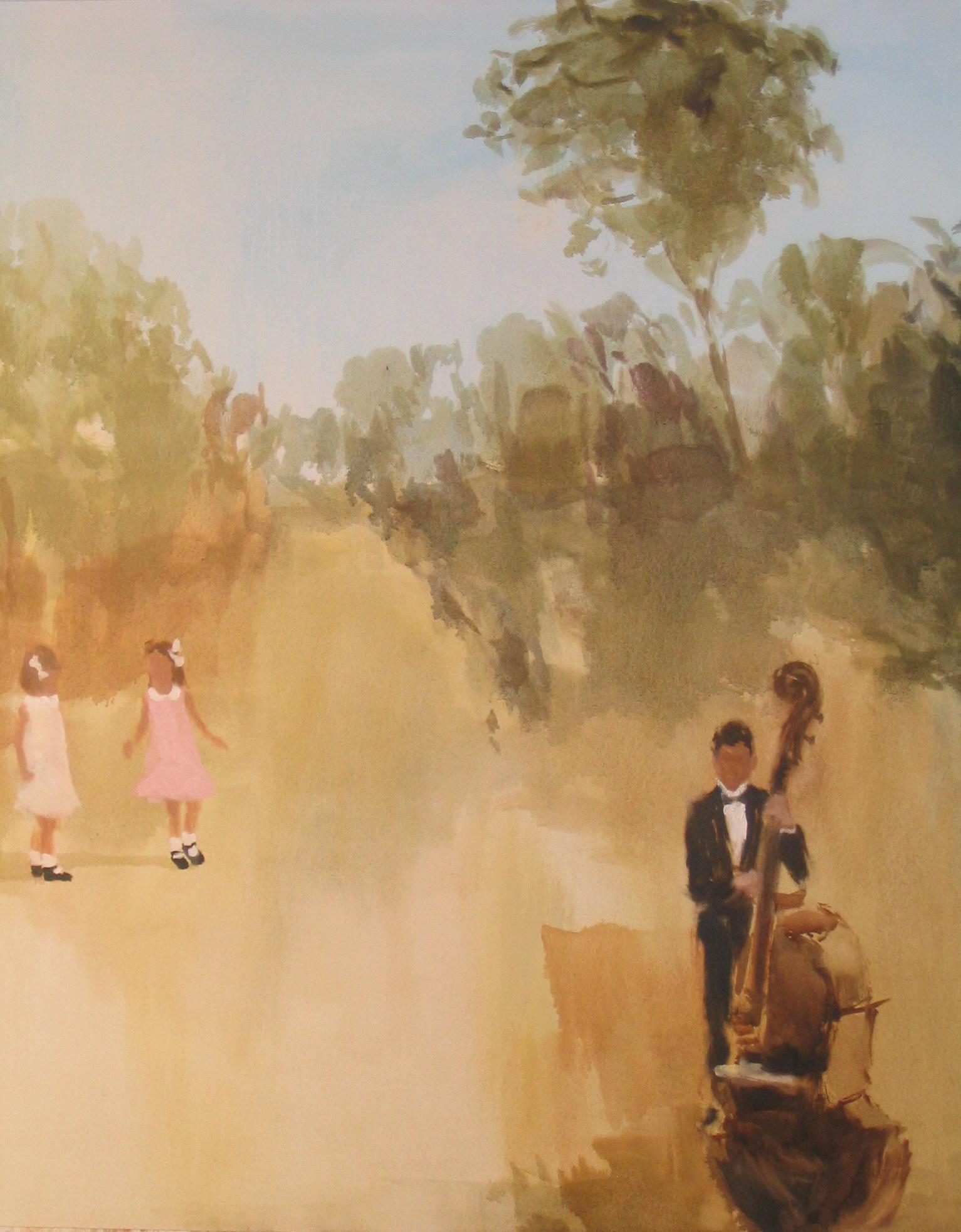 lucky curtain (dance) 42 x 36 in. oil on canvas 2007
