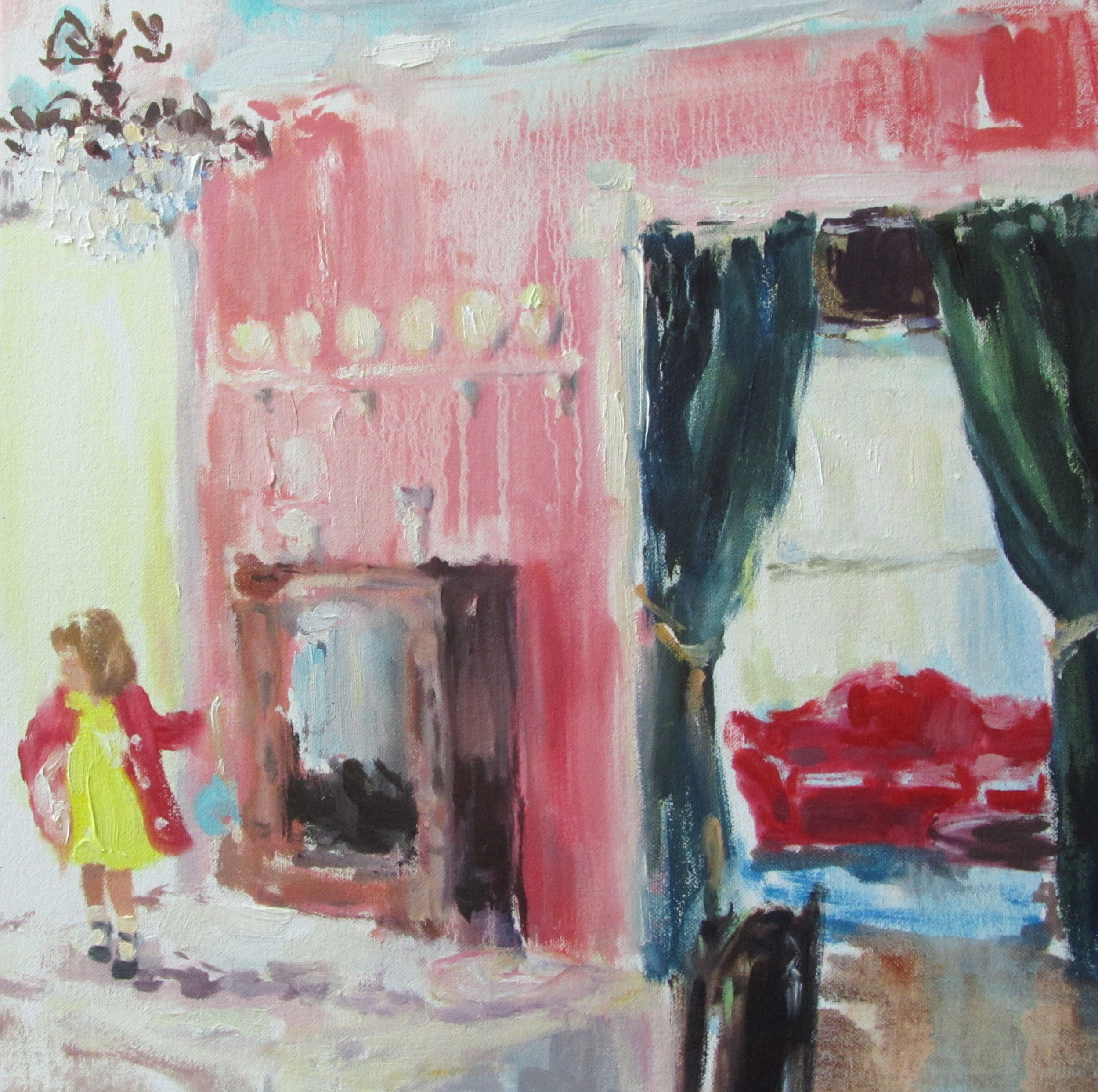 Museum (taking a chance or two) oil on canvas 10 x 10 in. 2012