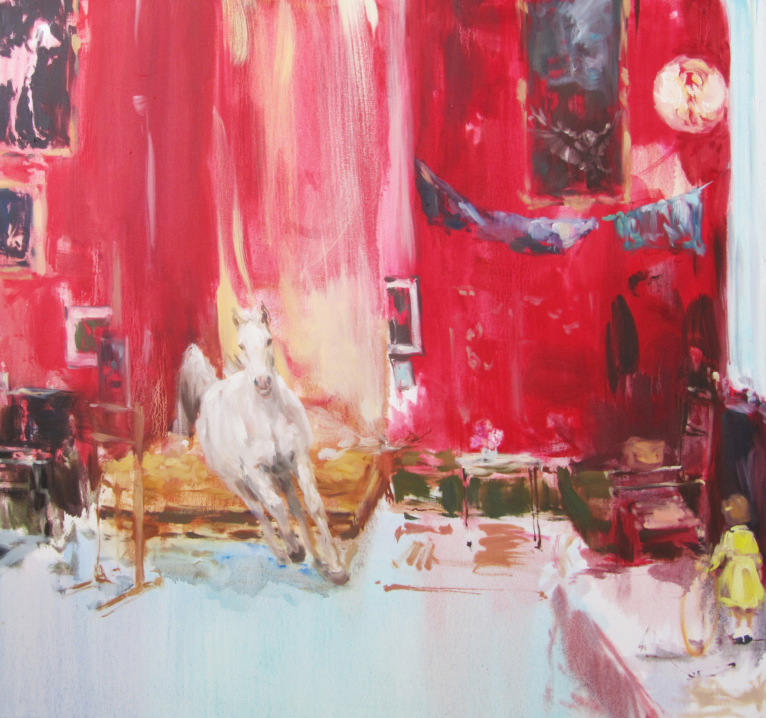 Museum (white linen studio) oil on canvas 34 x 32 in. 2012