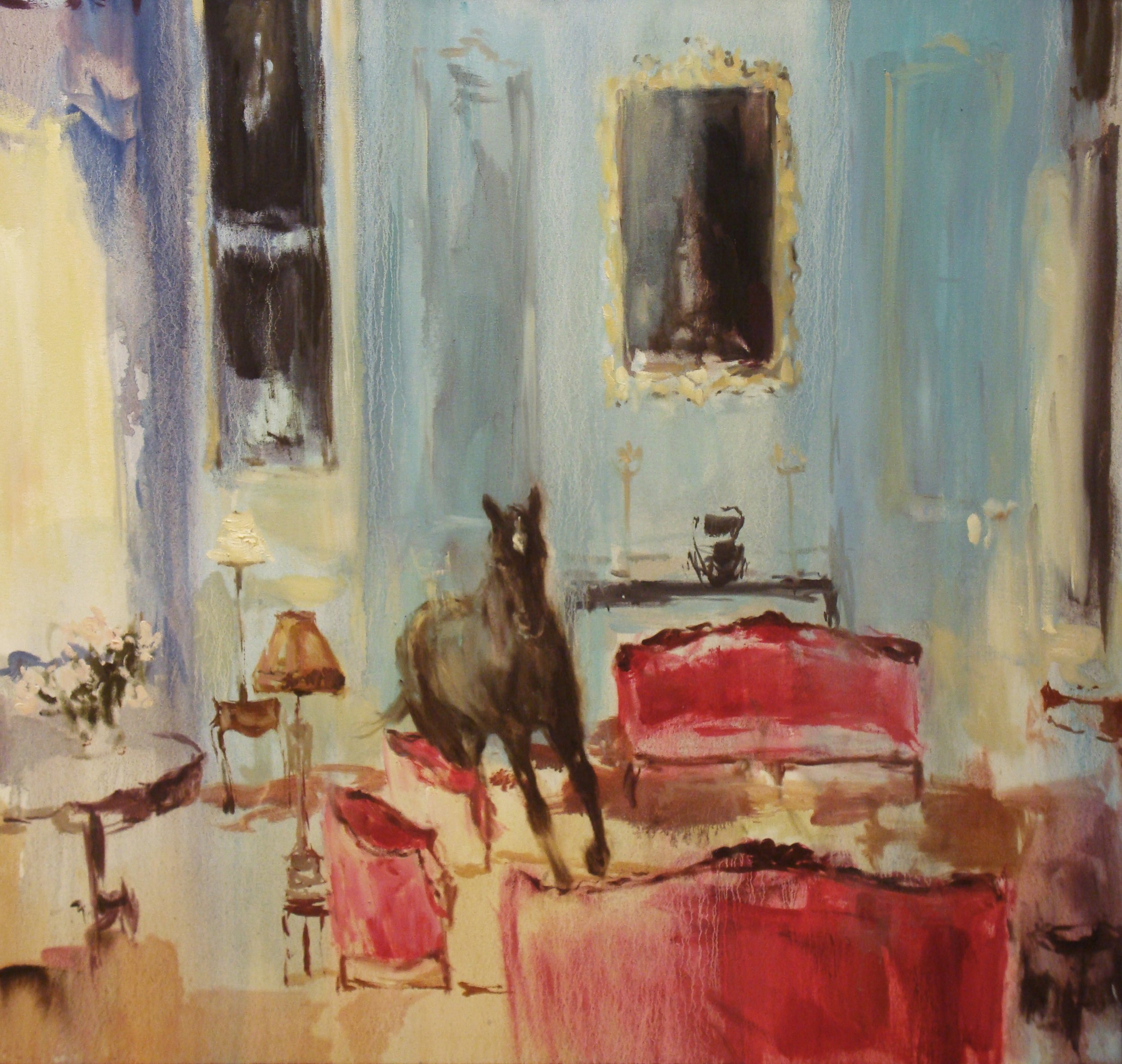 Vintage Suite (heart's on fire) 34 x 36 in. oil on canvas 2011
