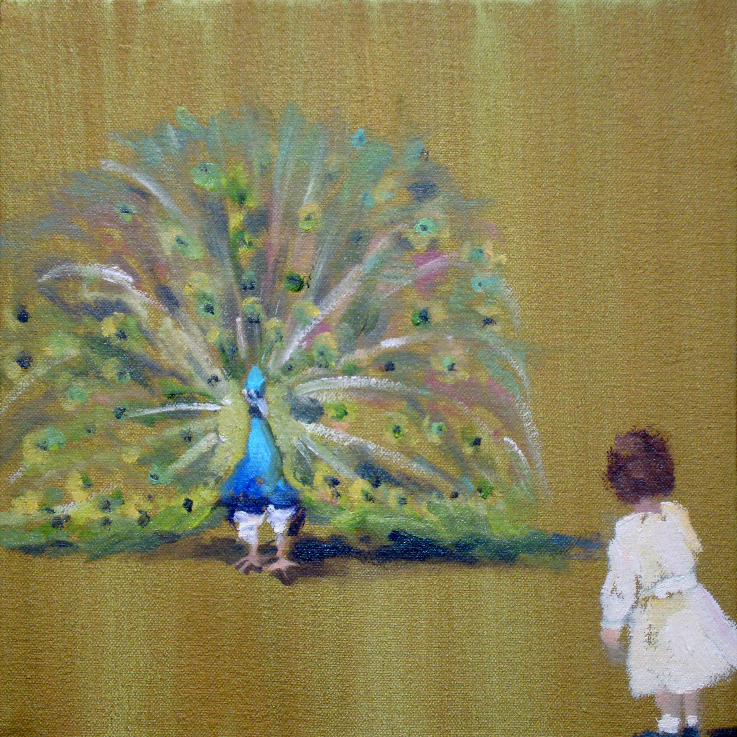 Vintage Suite (peacock) 8 x 8 in. oil on canvas  2011