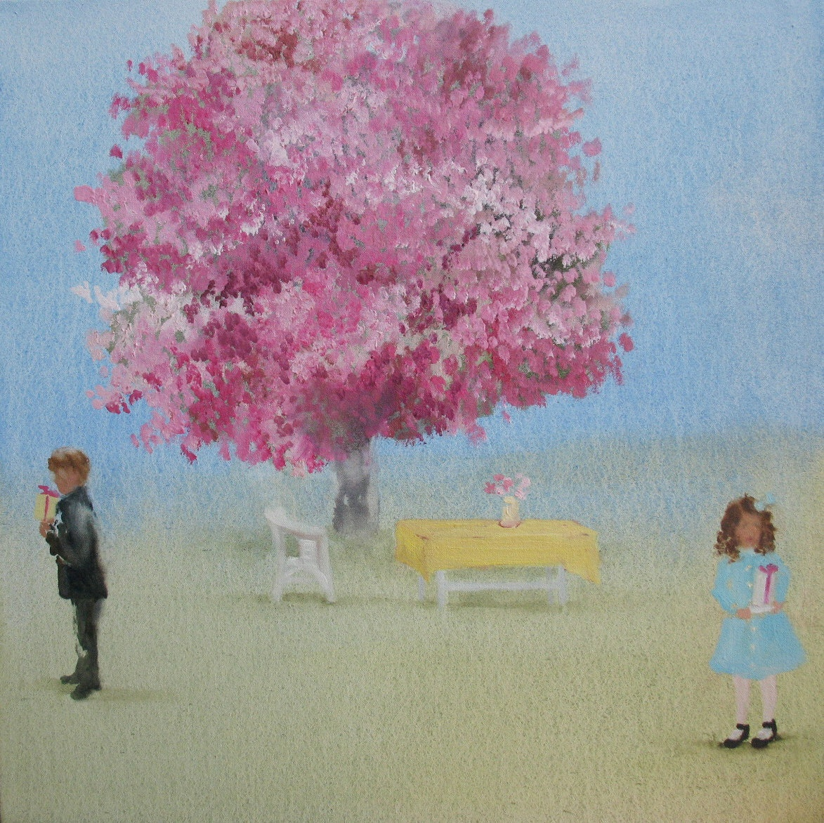 Acoustic Cameo (blossom party) 16 x 16 in. oil on canvas 2009