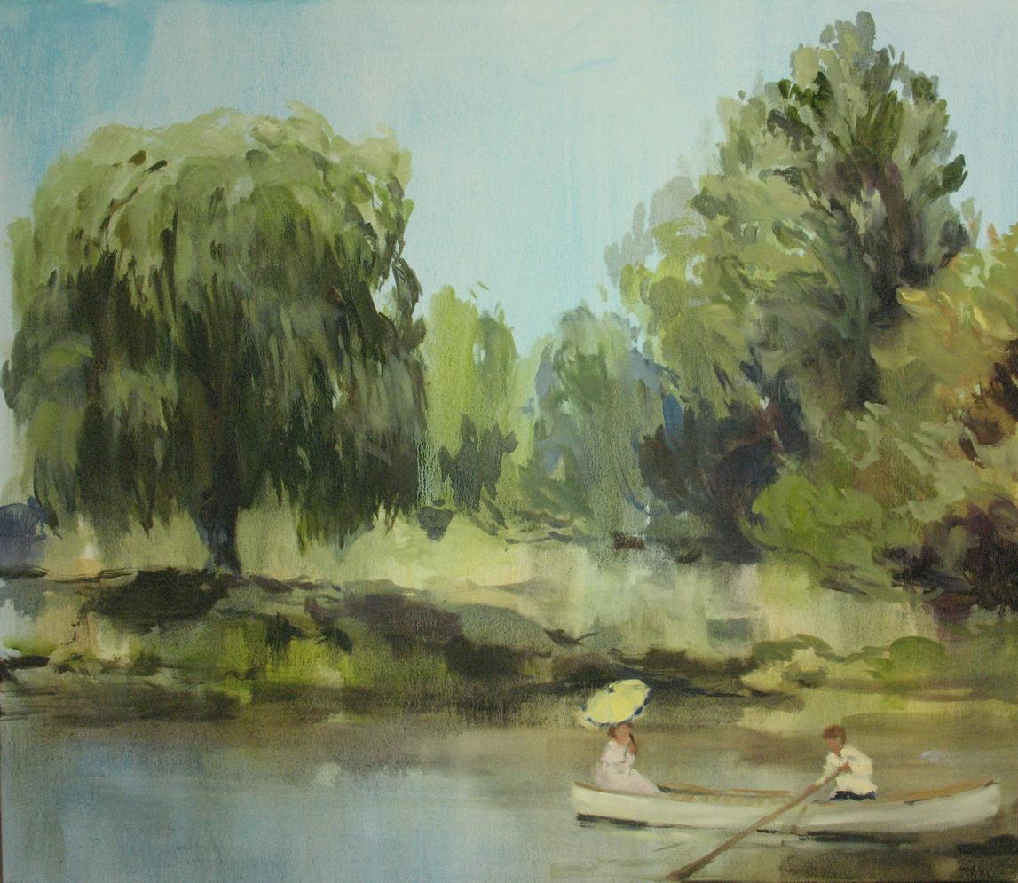 Canopy (beneath the morning sun) 38 x 44 in. oil on canvas 2010