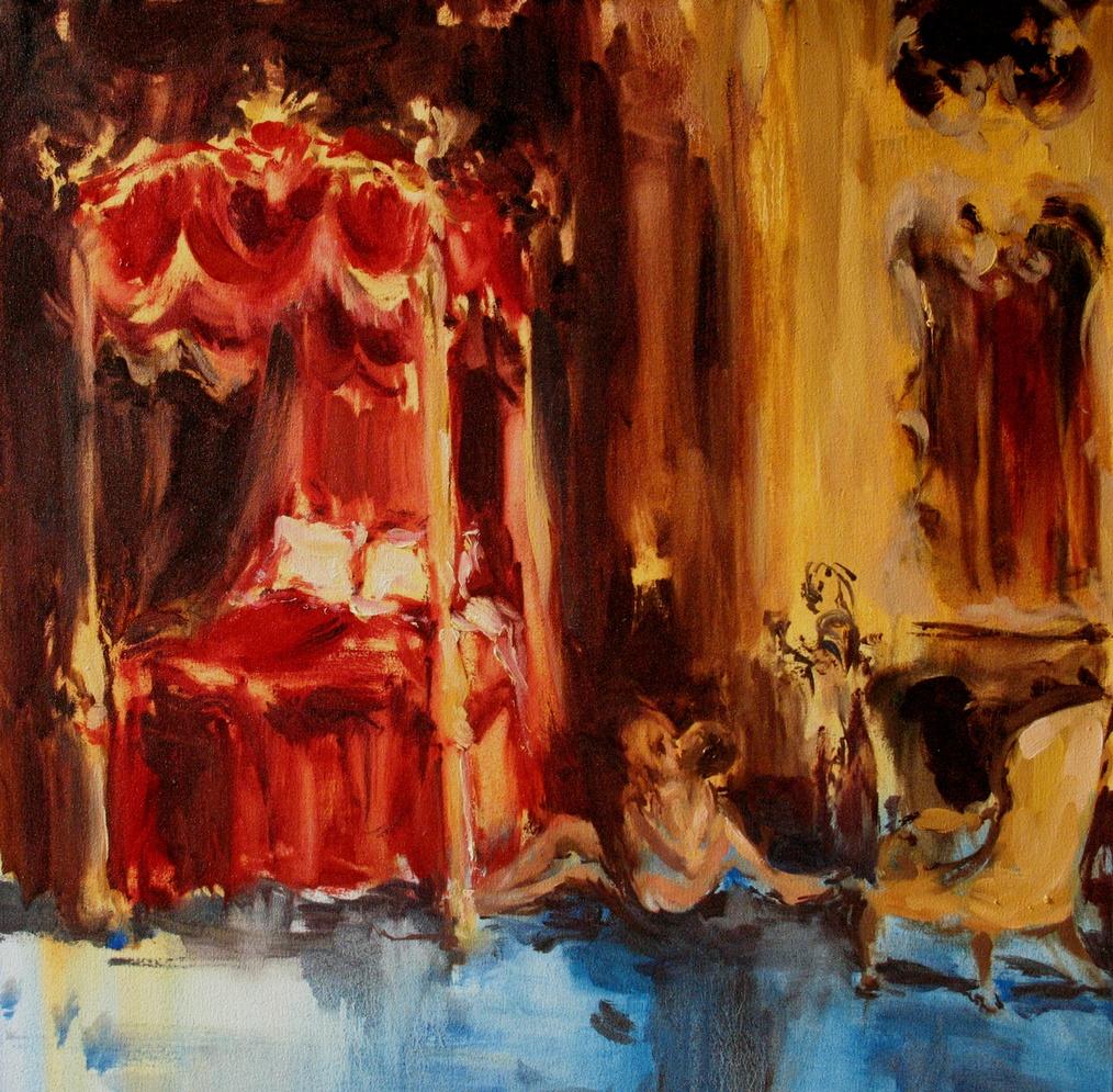 Canopy (feeling in my fingertips) 24 x 24 in. oil on canvas 2010