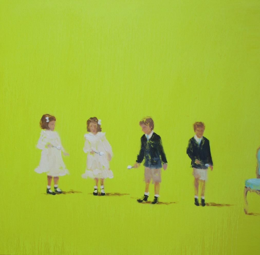 Story Heart (lemon meringue race) 20 x 20 in. oil on canvas 2011