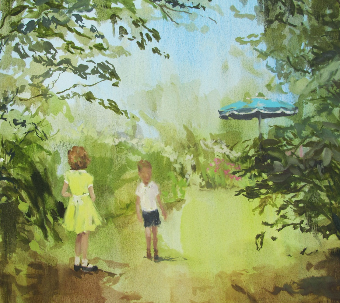 Story Heart (melt like lemon drops) 32 x 34 in. oil on canvas 2011