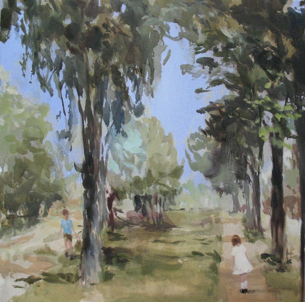 Velvet Carousel (hopscotch and honey) 24 x 24 in. oil on canvas 2010