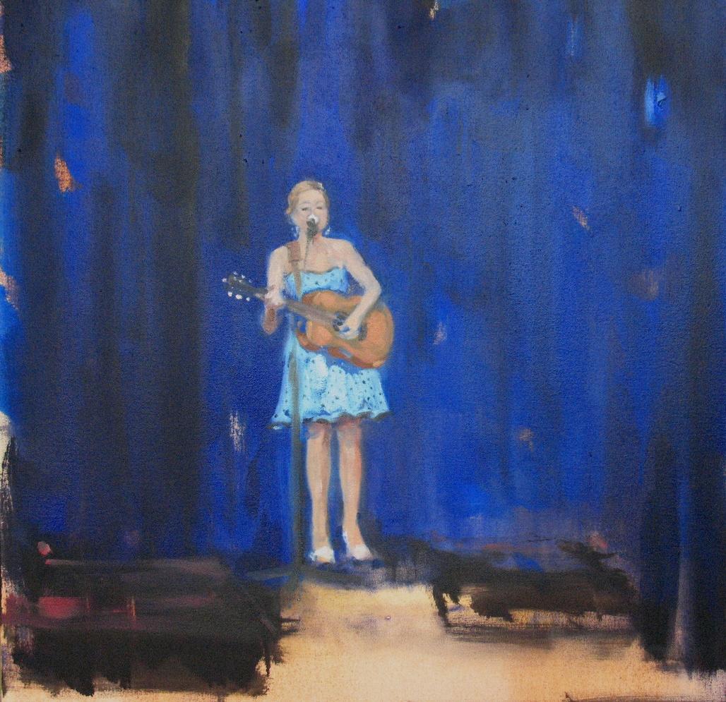 Velvet Carousel (JB) 19 x 19 in. oil on canvas 2010