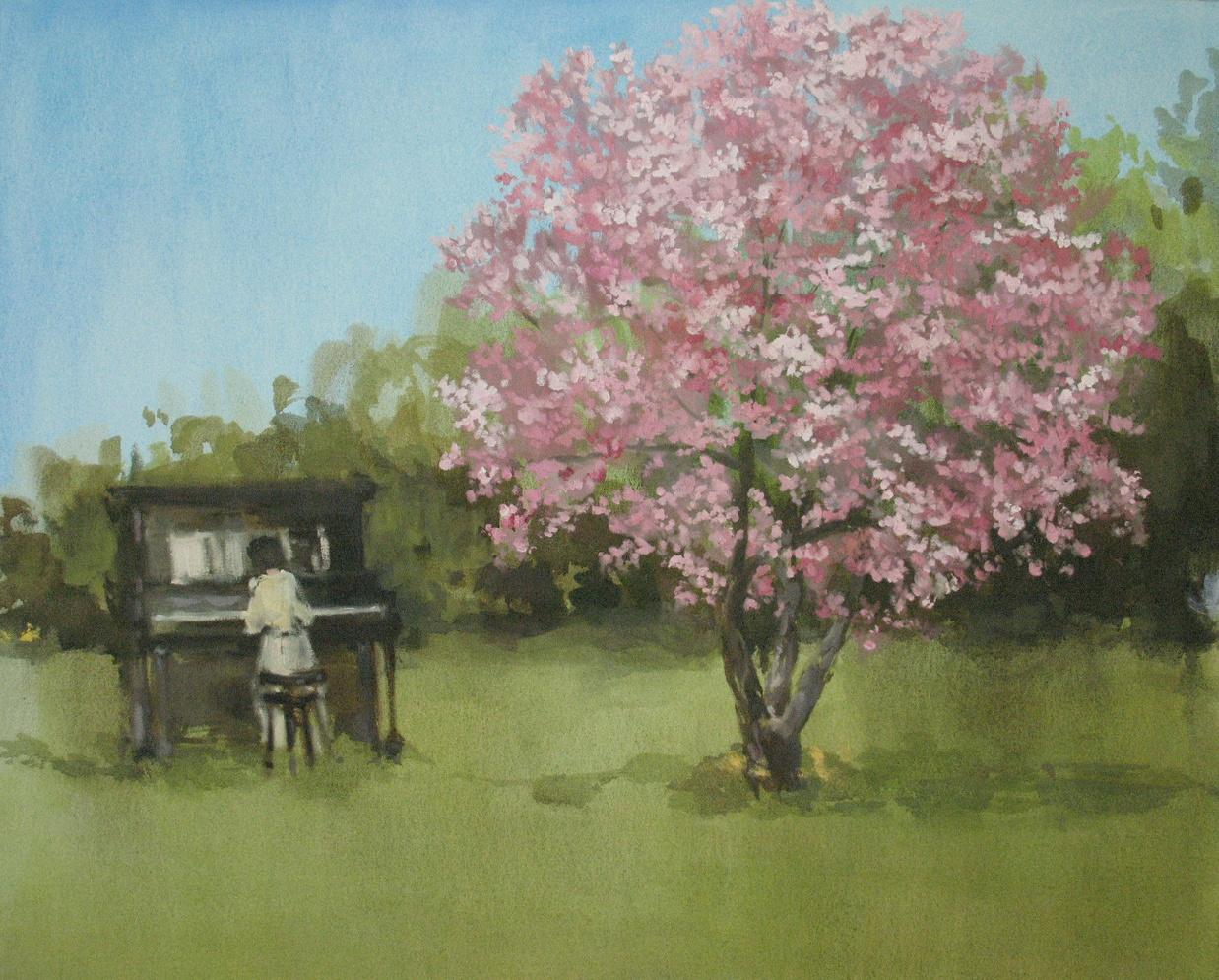 Velvet Carousel (Magnolia song) 30 x 36 in. oil on canvas 2010