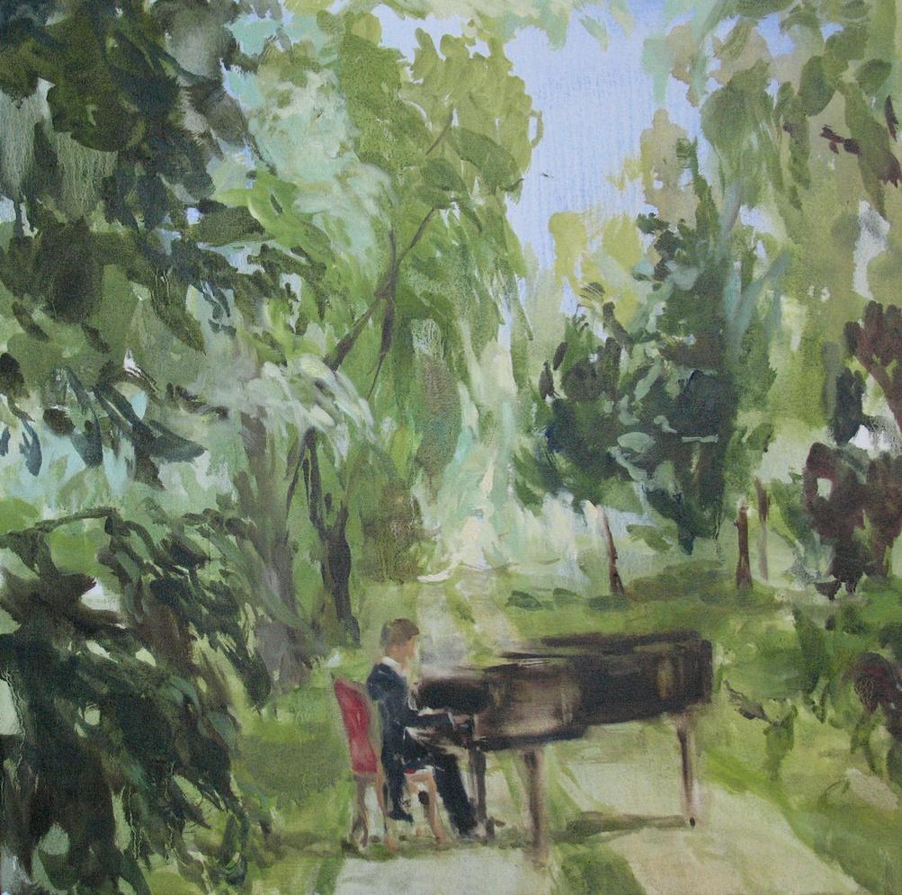 Velvet Carousel (my love for you, Allegro) 24 x 24 in. oil on canvas 2010