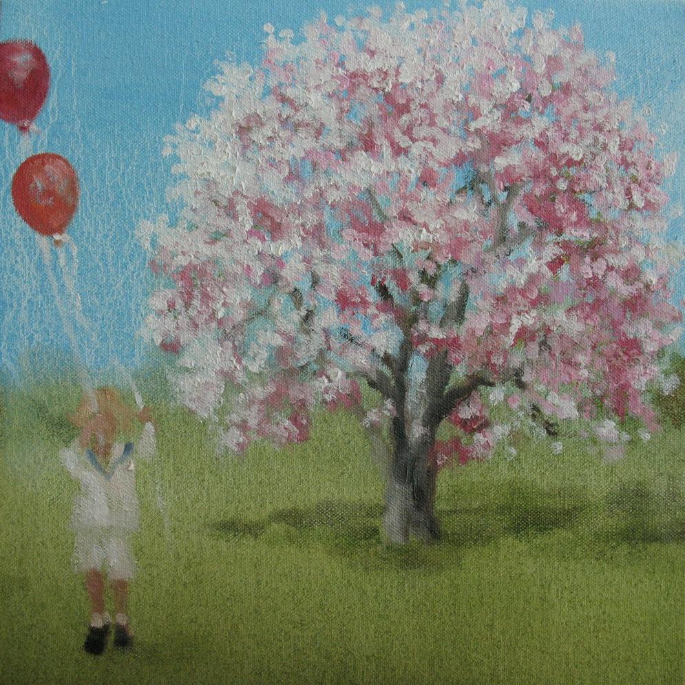 Velvet Carousel (party) 8 x 8 in. oil on canvas 2010