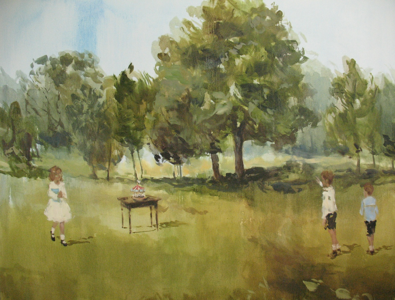 Velvet Carousel (precious few) 48 x 60 in. oil on canvas 2010