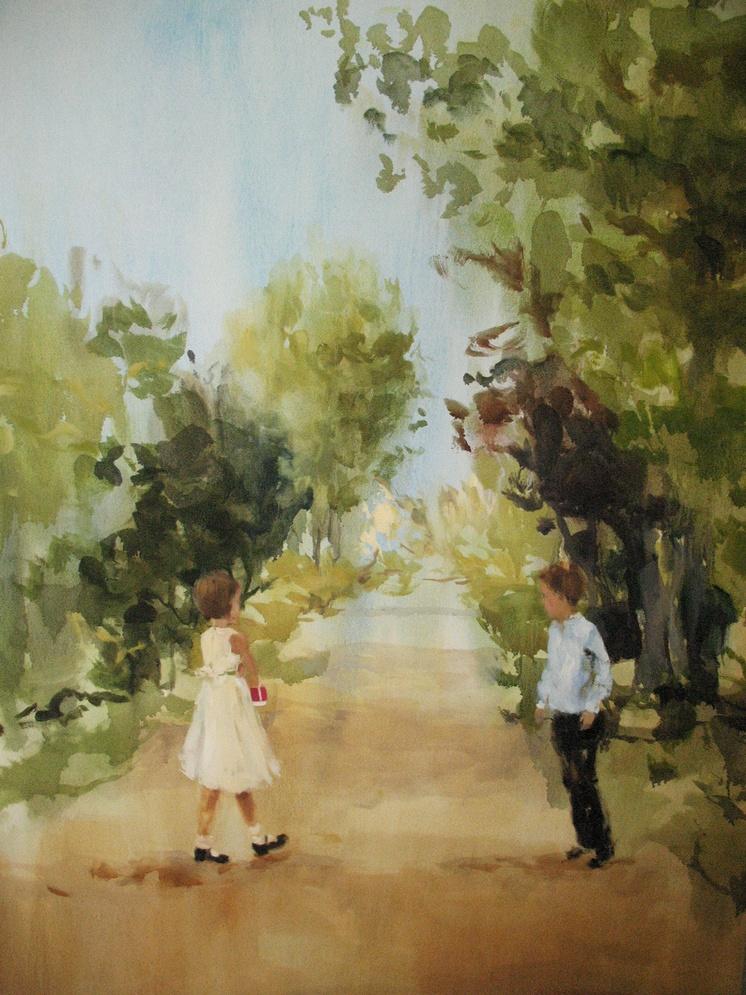 Velvet Carousel (rolling through my mind) 66 x 48 in. oil on canvas