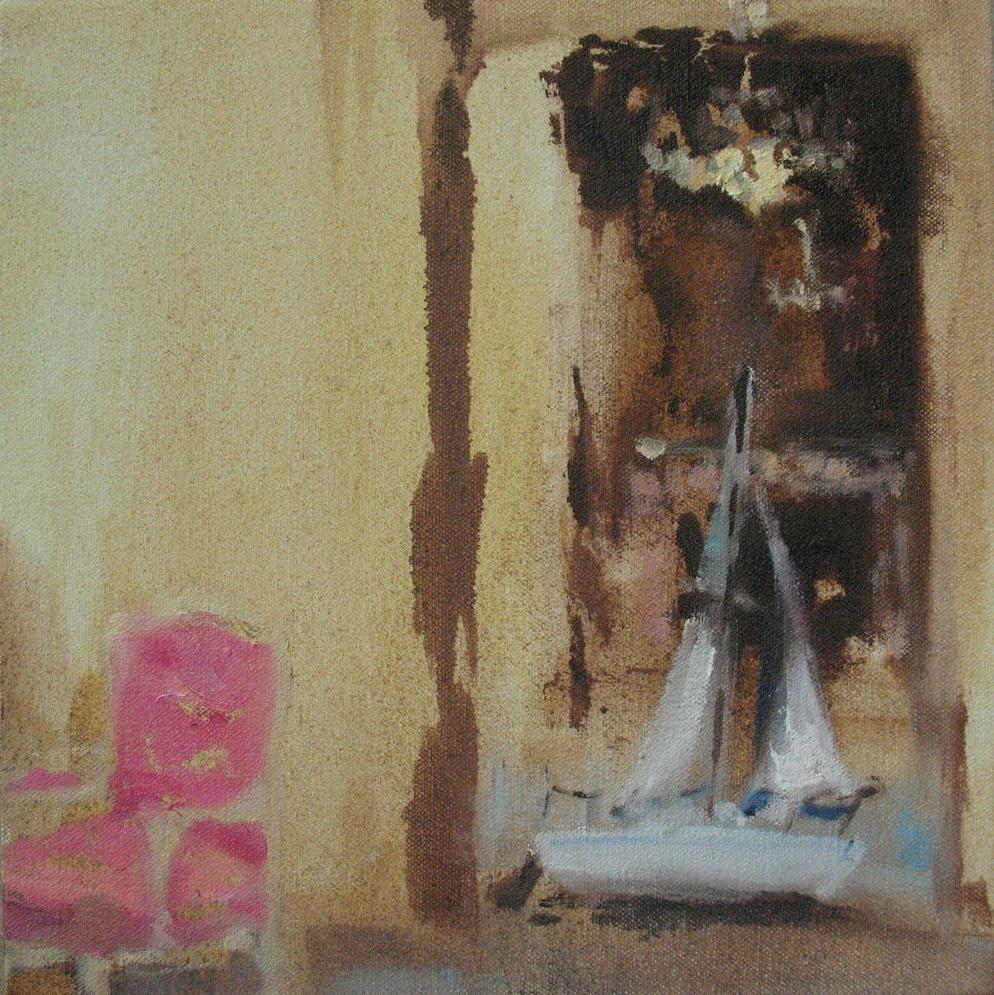 Velvet Carousel (romantic waters) 8 x 8 in. oil on canvas 2010