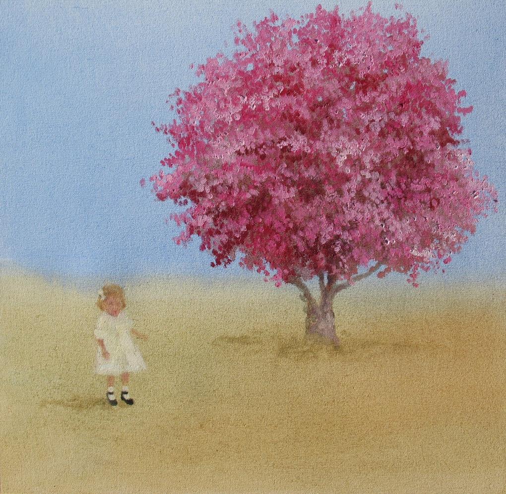 Velvet Carousel (Spring wish) 16 x 16 in. oil on canvas  2010