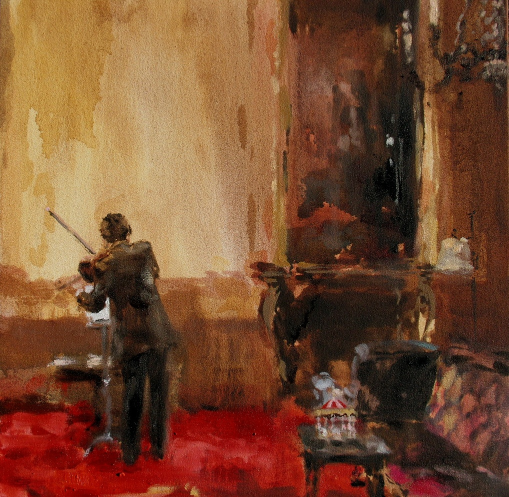 Velvet Carousel (the violin of my heart) 16 x 16 in. oil on canvas 2010