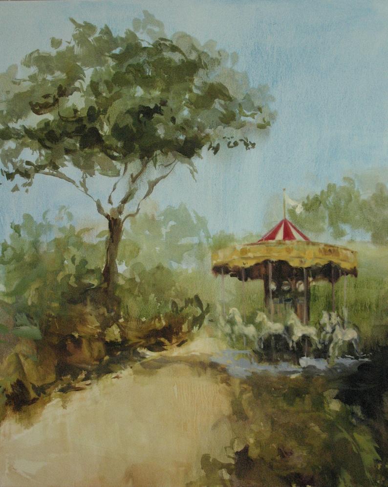 Velvet Carousel (dedicate my heart) 42 x 36 in. oil on canvas 2010