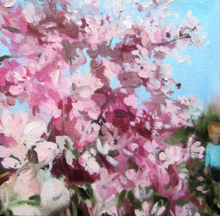 In blush time (comes your favourite place) oil on canvas 8 x 8 in. 2012