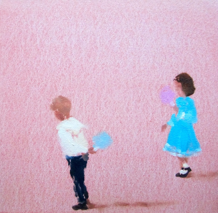 In blush time (cotton candy) oil on canvas 8 x 8 in. 2012