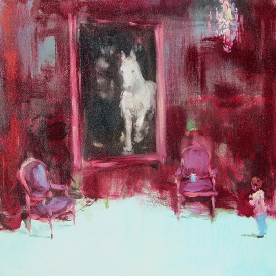 In blush time (as we make-believe) oil on canvas 20 x 20 in. 2012