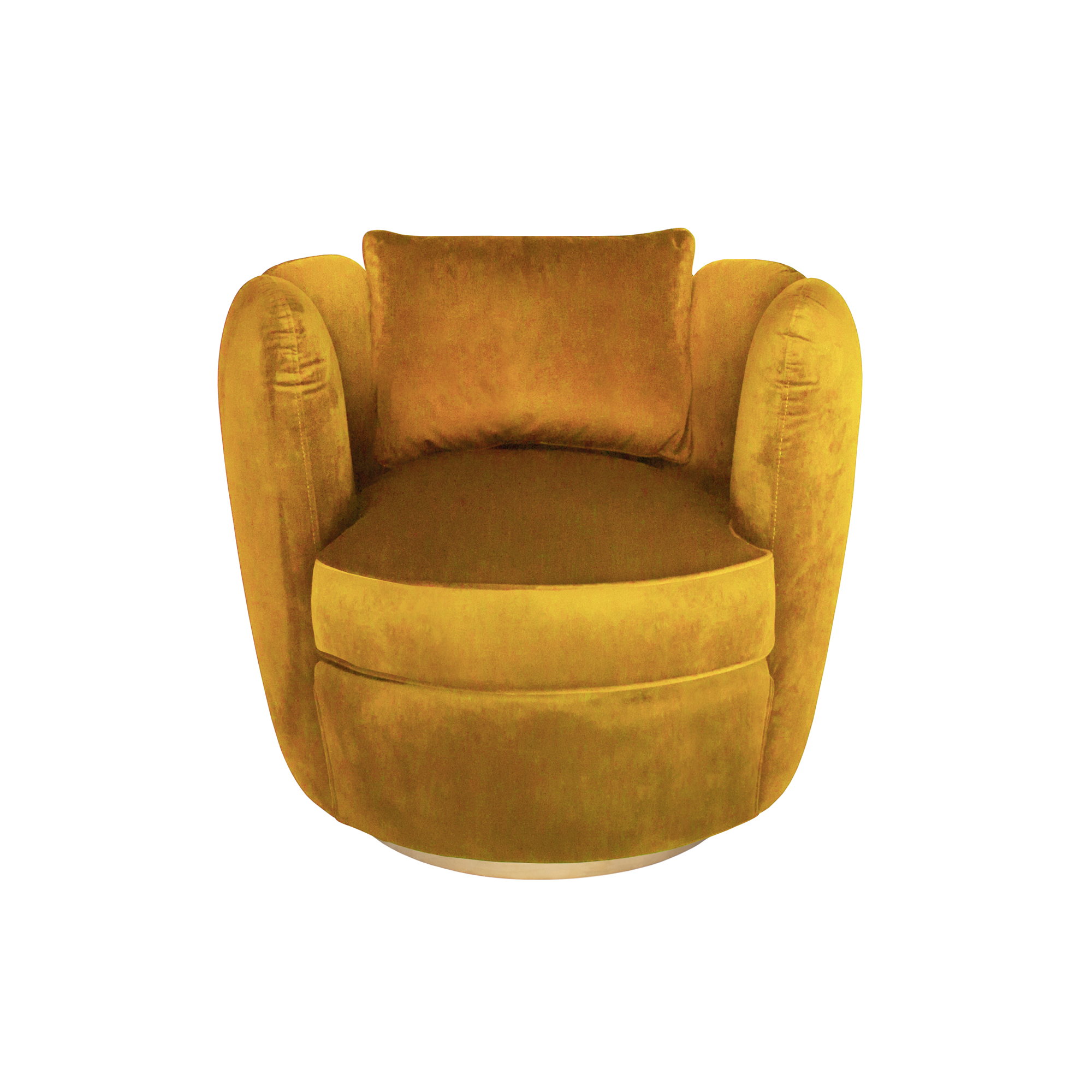 Picture of: Turin Velvet Swivel Armchair Antique Gold Jaks Hire Events