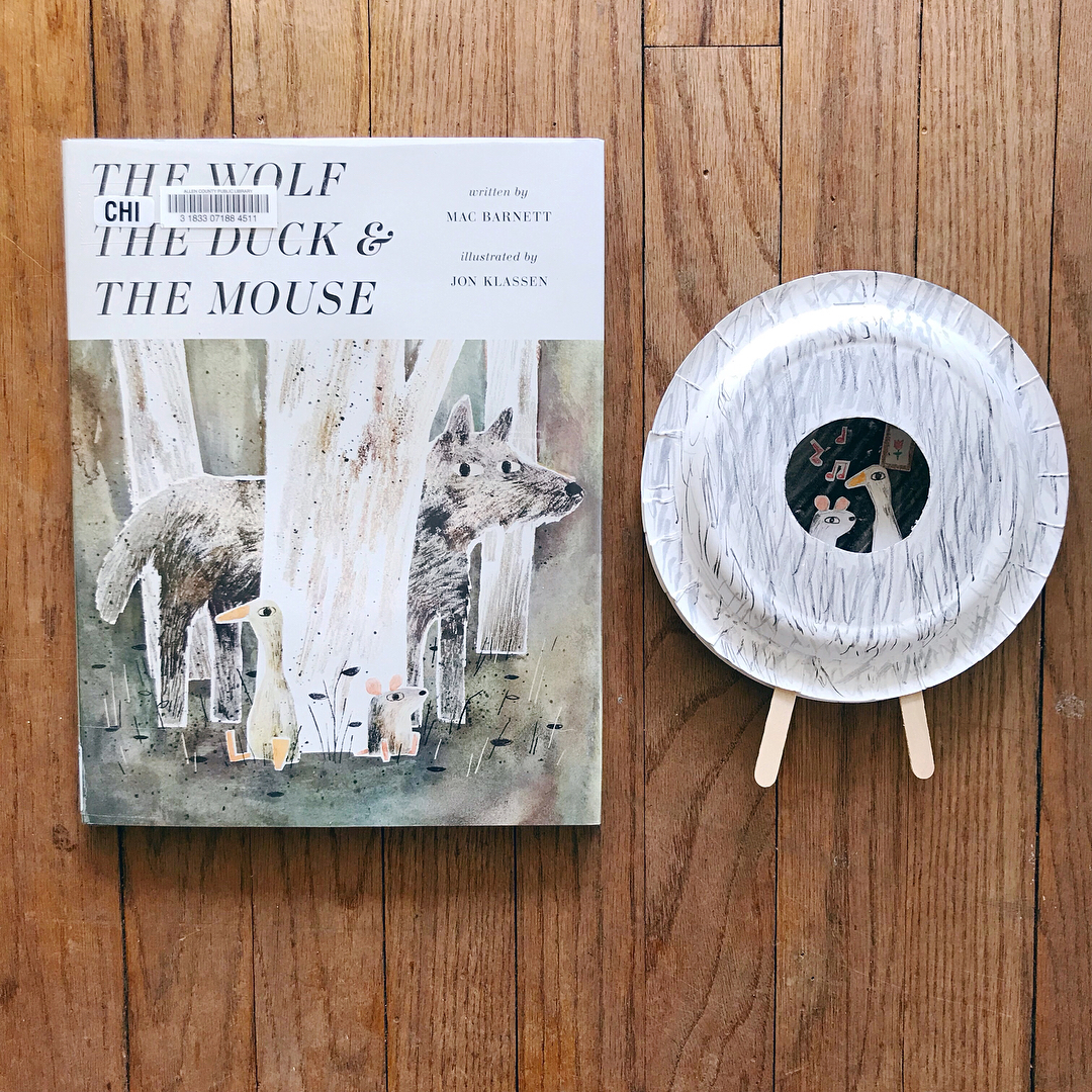 The Wolf The Duck and The Mouse  by Mac Barnett illustrated by Jon Klassen